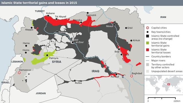 Karte des Nahen Ostens.