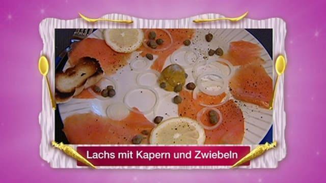 Lachs mit Kapern und Zwiebeln