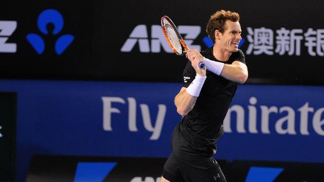 Andy Murray bei einem Schlag.