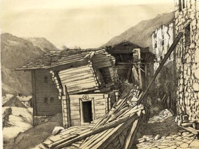 Das Erdbeben im Vispertal im Kanton Wallis, Johann Christian Heusser