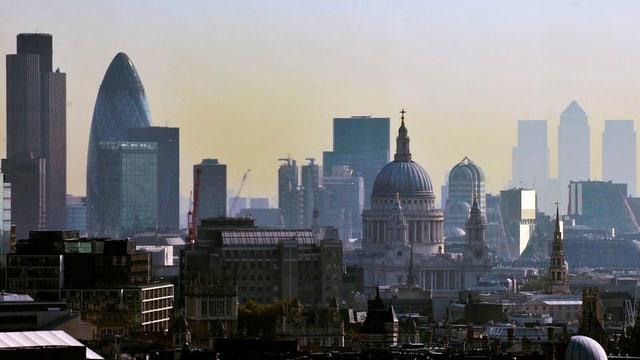 Vista dal center da Londra.