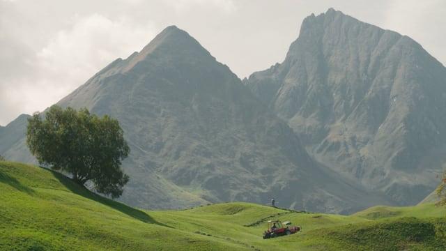 Eine idyllische Berglandschaft