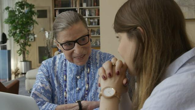 Ruth Bader Ginsburg im familiären Umfeld.