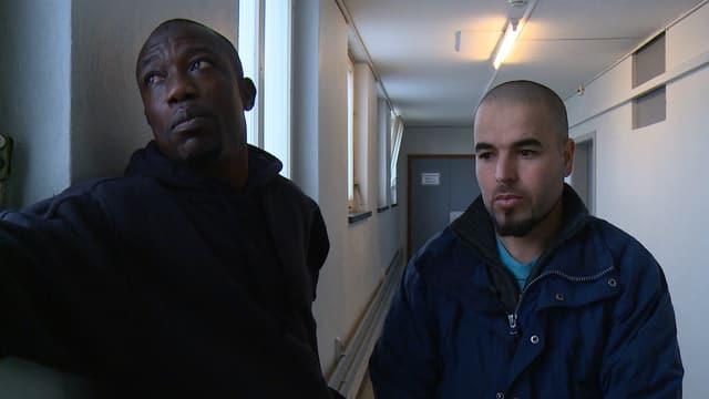 Hassan aus Ghana (links) und Ibrahim aus Marokko