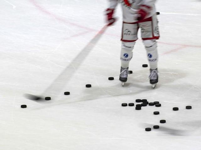 Auf Amateurstufe ruht der Eishockey-Betrieb.