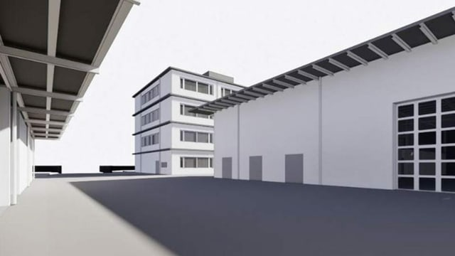 Visualisierug des geplanten Werkhofs in Schaffhausen.
