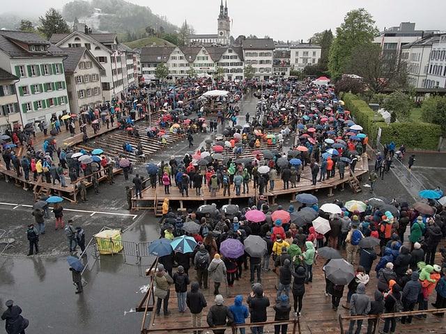 Der Zaunplatz am Sonntag während der Landsgemeinde.