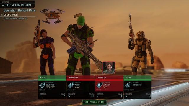 Der Trupp nach geschlagener Schlacht.