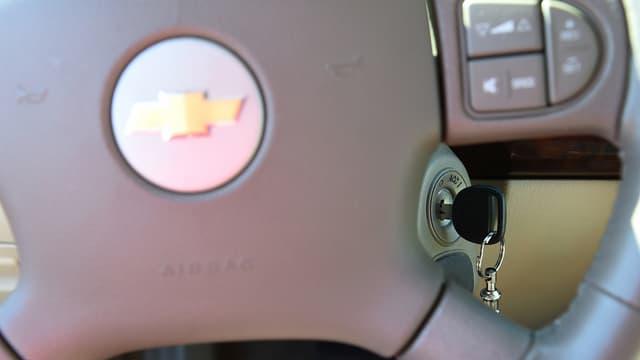 Der Zündschlüssel bei einem GM Chevrolet Cobalt.