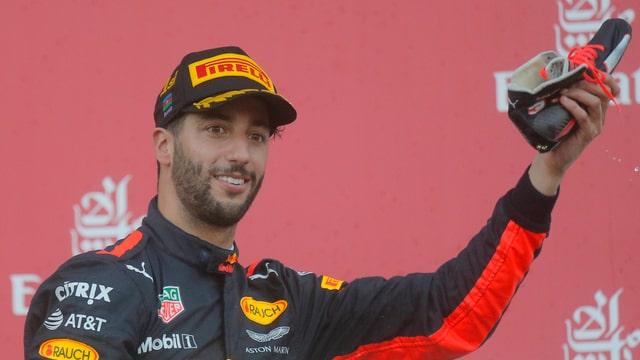 Daniel Ricciardo gudognà la cursa a Baku.