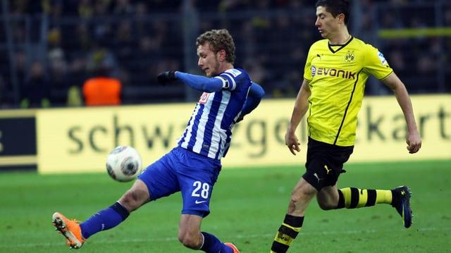 Lustenberger als Abwehr-Chef im Einsatz gegen Lewandowski.