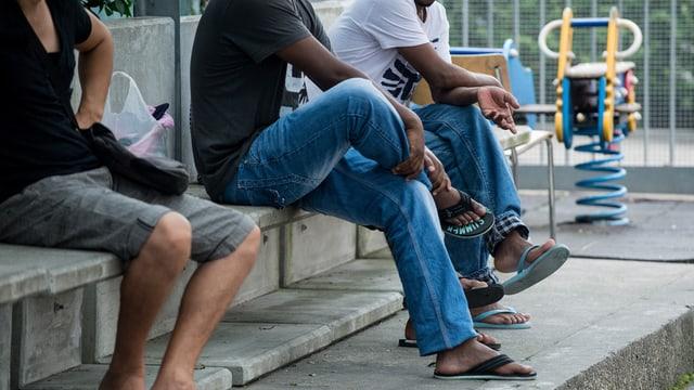 Flüchtlinge in der Schweiz.