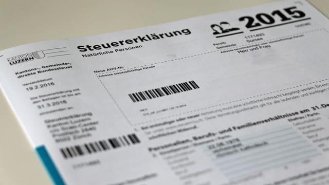 Steuererklärung.