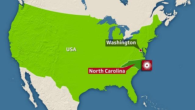 Karte Sturm-Standort