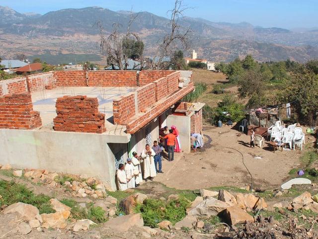 Ein Haus in einem marokkanischen Dorf.
