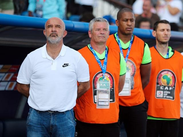 Nicolas Dupuis (links) und sein Staff.