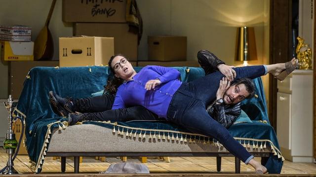 Szene aus «Il turco in Italia» Zürcher Opernhaus