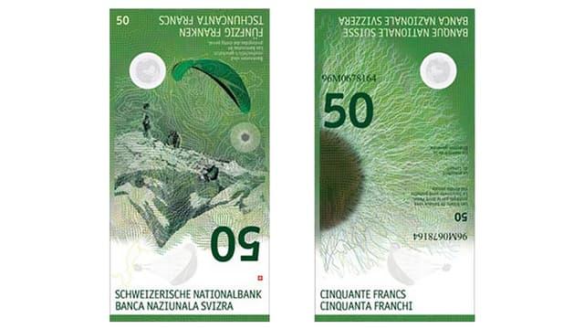 La nova bancnota da 50 francs.