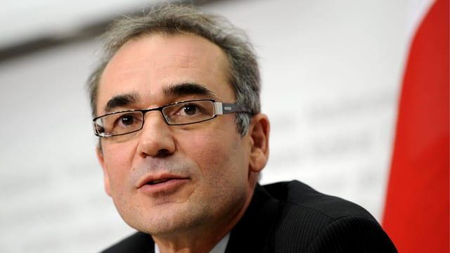 Jürg Marti, kurz nach seiner Wahl zum neuen Direktor des Bundesamts für Statistik (BFS).