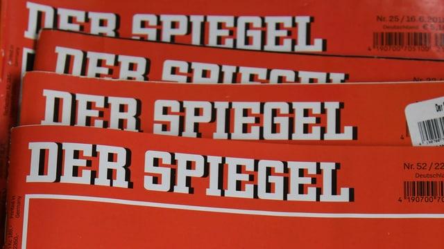 Ein Stapel des Magazins «Der Spiegel».