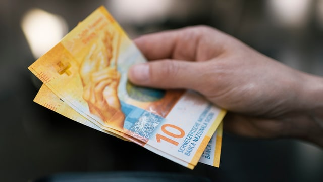Zwei 10-Franken-Noten