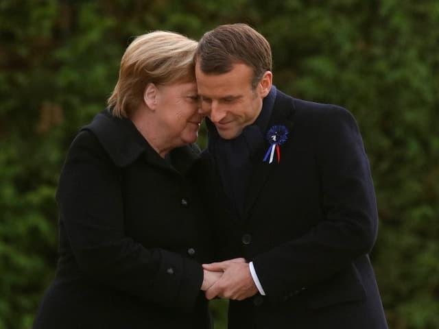 Merkel und Macron.