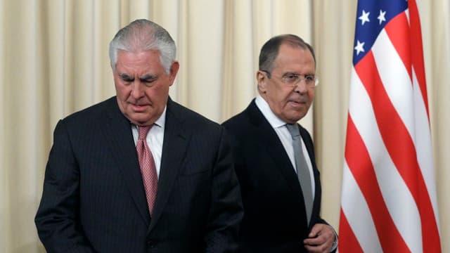 purtret dals ministers da l'exteriur dals Stadis Unids e da la Russia