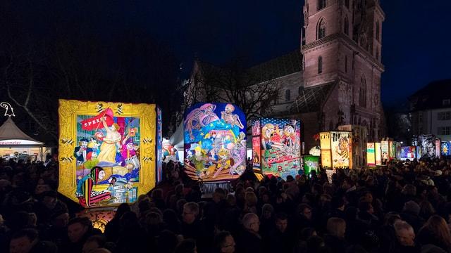 Laternenausstellung auf dem Münsterplatz