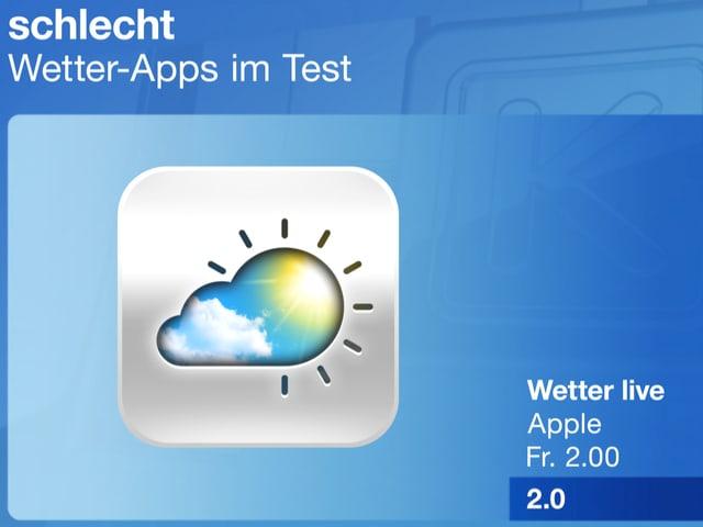 Schlechte Wetter-Apps