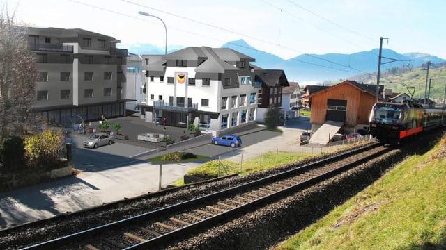 Projekt für neues Gemeindehaus Sattel.