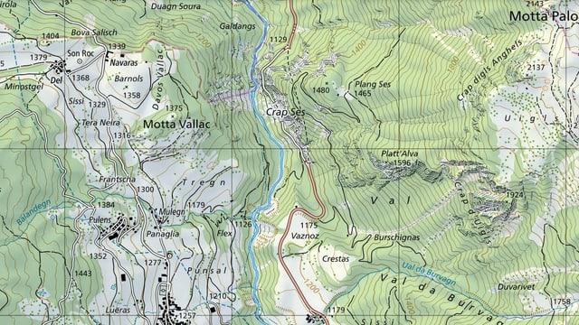 Il Crap Ses è il cuntin tranter la Val Alvra ed il Surses.