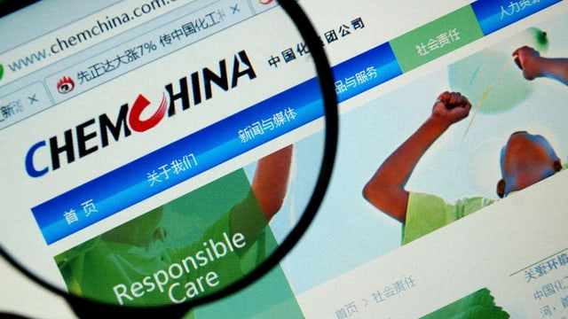 Ina marella ch`è drizzada envers la homepage da ChemChina.