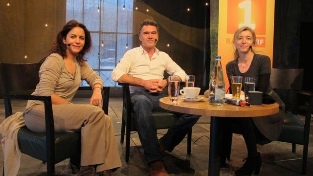 Camilla Fischbacher, Klaus Zuberbühler und Anita Richner