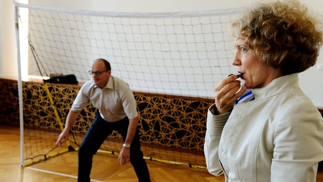 Stadtpräsidentin Corine Mauch (SP) und Stadtrat Gerold Lauber (CVP)