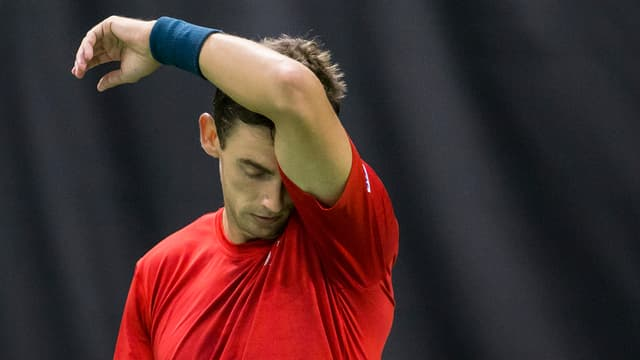 Henri Laaksonen scheidet in Antwerpen aus.