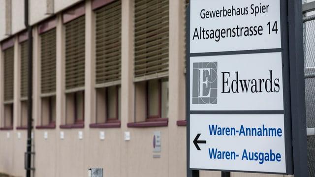 Das Gebäude der Firma Edwards in Horw.