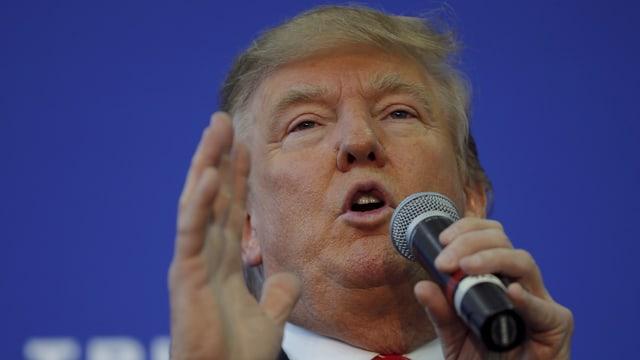 Donald Trump bei einer Rede.