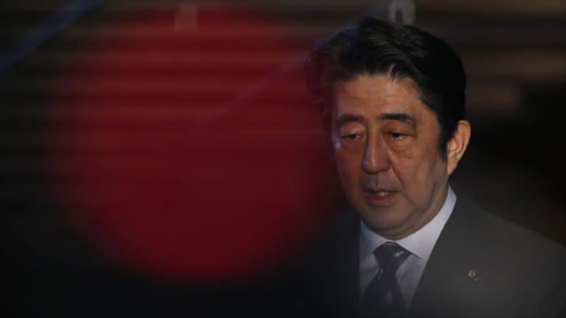 Purtret dal primminister dal Giapun, Shinzo Abe.