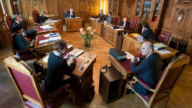 Bundesratszimmer. Erste Sitzung der Landesregierung im neuen Jahr.