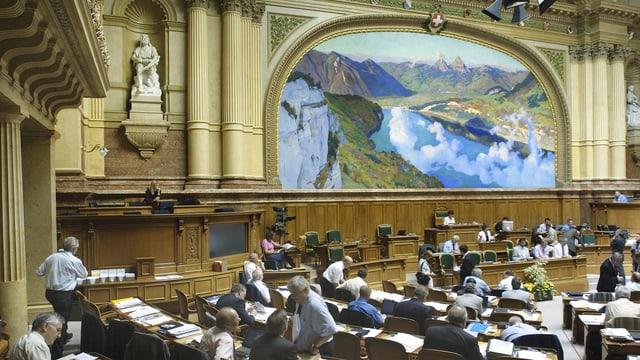 Blick in den Nationalrratssaal in Bern.