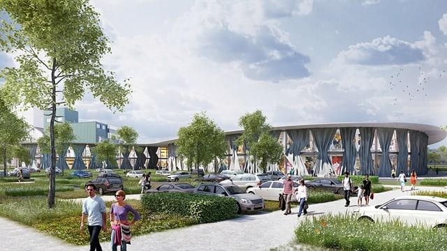 So könnte das geplante Outlet-Center in Wigoltingen aussehen.