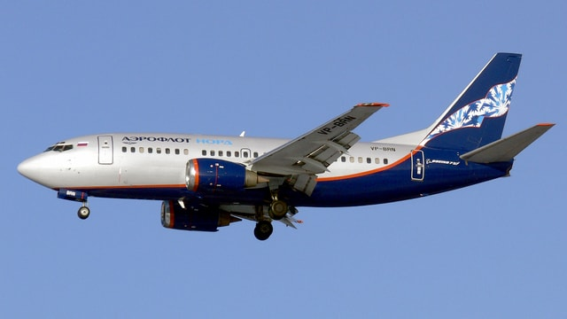 Ein Kurzstrecken-Flugzeug der Aeroflot.