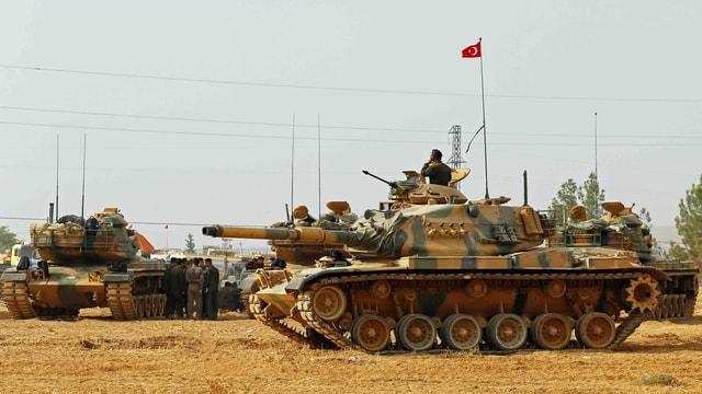 Stationierte Panzer