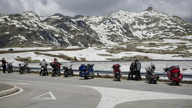 Motorcycles on the Gotthard Pass