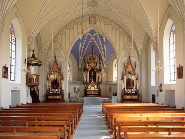 Sakralraum, Kirchenschiff der katholischen Kirche Bünzen