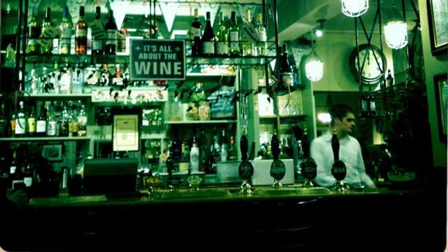 Ein Pub mit Hang zum Wein.