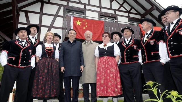 Grosser Empfang für Chinas Premierminister Li Keqiang in Embrach.
