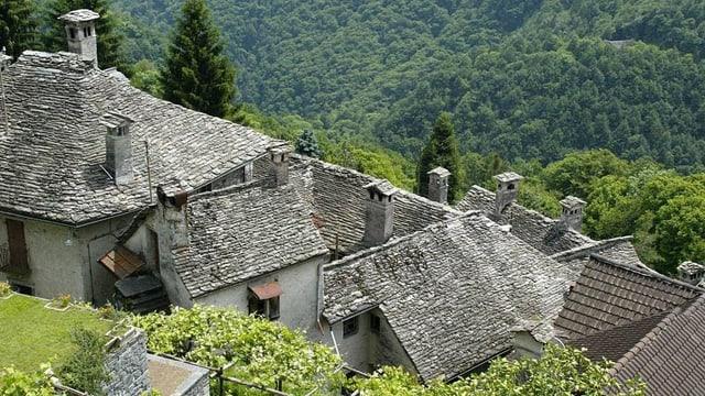 Steil gebaut: Das Dorf Loco im Onsernone-Tal.