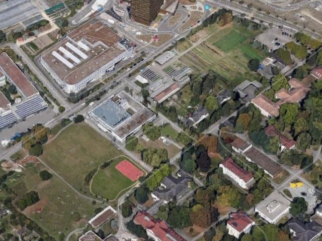 Karte von oben.