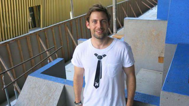 Raphael Bicker ist Präsident des Vereins Parkour Luzern.